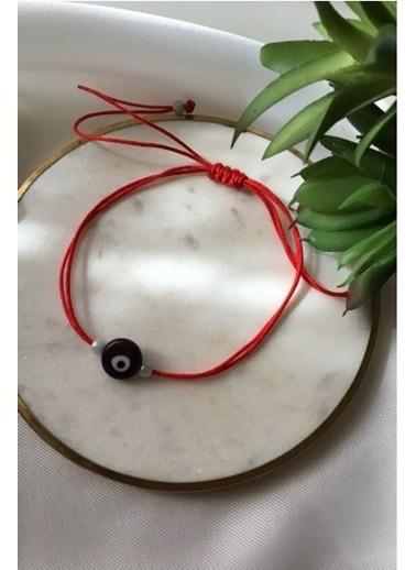 My Joyas Design Mor Nazar Boncuğu İp Bileklik & Halhal Renkli
